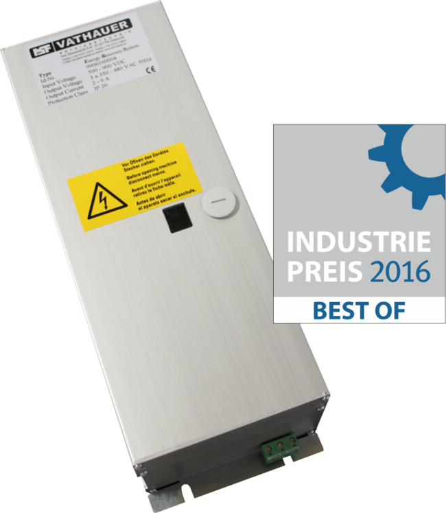 "Industriepreis 2016 ""Best Of"" für das Energy-recovery-System"